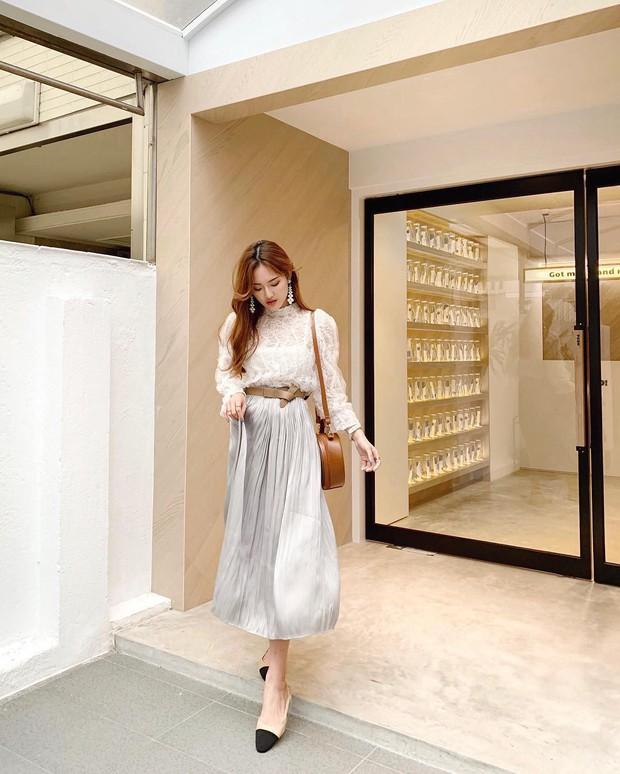 Quá xinh nên chẳng thể làm ngơ: 12 ý tưởng diện áo sơ mi/blouse + chân váy giúp nàng công sở tỏa sáng hơn cả nắng thu - Ảnh 7.