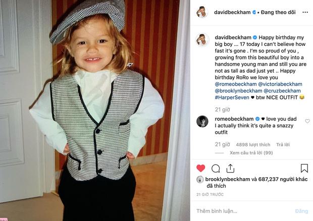 Gia đình Beckham quây quần đón sinh nhật Romeo, đáng chú ý nhất là nụ hôn nồng thắm Harper dành cho anh trai - Ảnh 2.