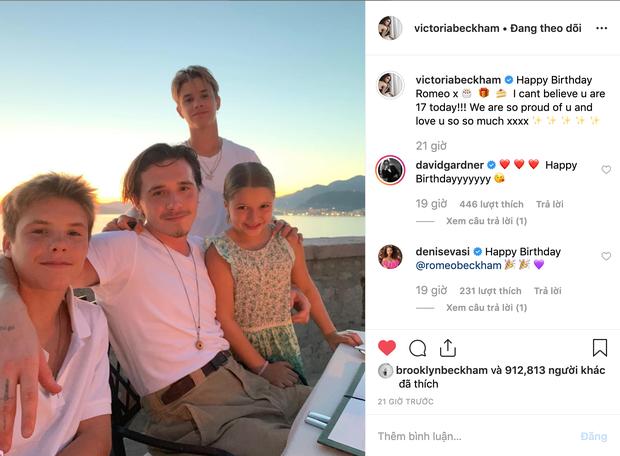 Gia đình Beckham quây quần đón sinh nhật Romeo, đáng chú ý nhất là nụ hôn nồng thắm Harper dành cho anh trai - Ảnh 3.