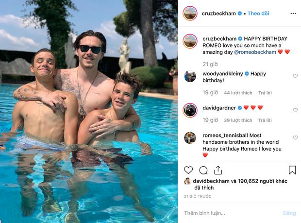 Gia đình Beckham quây quần đón sinh nhật Romeo, đáng chú ý nhất là nụ hôn nồng thắm Harper dành cho anh trai - Ảnh 5.