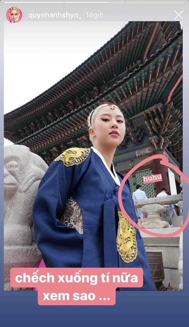 """Phát hiện sở thích """"ngộ nghĩnh nhỉ"""" của Quỳnh Anh Shyn mỗi khi đi du lịch: Lần nào cũng tự tay """"bóc phốt"""" ảnh trên mạng - ngoài đời của hội hotgirl - Ảnh 12."""