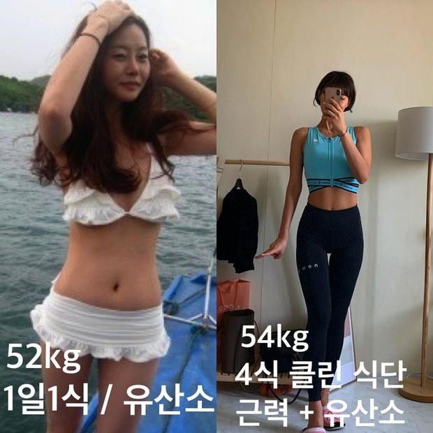 Cô nàng PT Hàn Quốc chia sẻ bí kíp giảm 20kg, loại bỏ mỡ để lấy lại thân hình đồng hồ cát săn chắc - Ảnh 3.