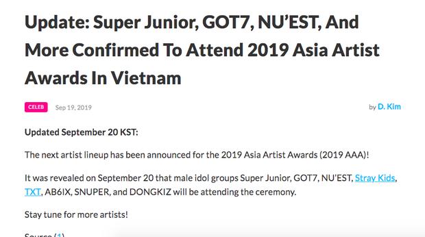 HOT: AAA 2019 tung line up 8 boygroup đến Việt Nam, Suju và GOT7 xác nhận, BTS và EXO liệu có tham dự? - Ảnh 2.