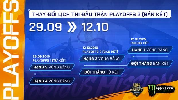 Đây là những thay đổi mới nhất về lịch thi đấu play-off Đấu Trường Danh Vọng mùa Đông 2019 - Ảnh 1.