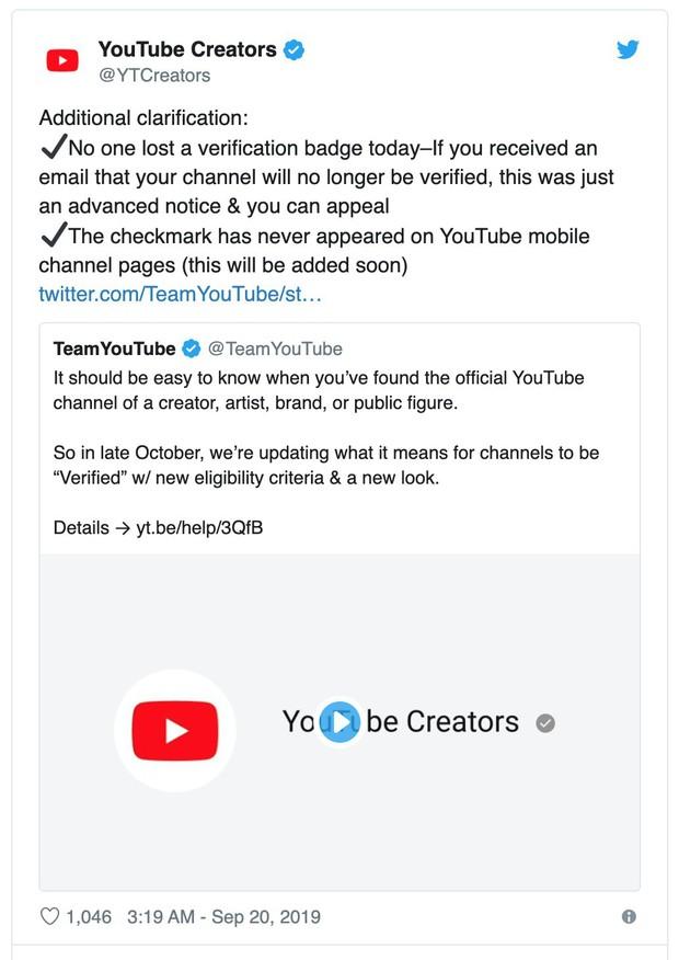 YouTube thay đổi cách xác minh kênh, nhiều người có nguy cơ mất trắng huy hiệu - Ảnh 2.
