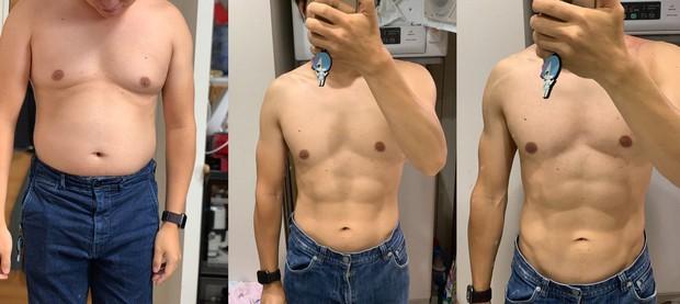 Học ngay bài tập giúp chàng trai người Nhật Bản từ bụng bia hóa thân hình 6 múi cực phẩm - Ảnh 3.