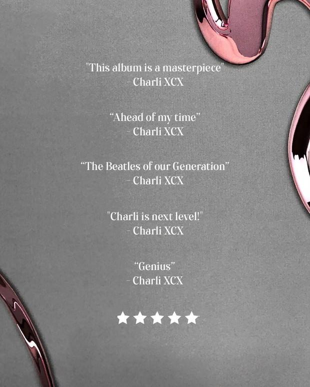 """Thánh tự luyến Charli XCX: Hết xưng là """"đấng cứu thế"""" của nền nhạc Pop, giờ lại tự khen ngất trời album của chính mình - Ảnh 2."""