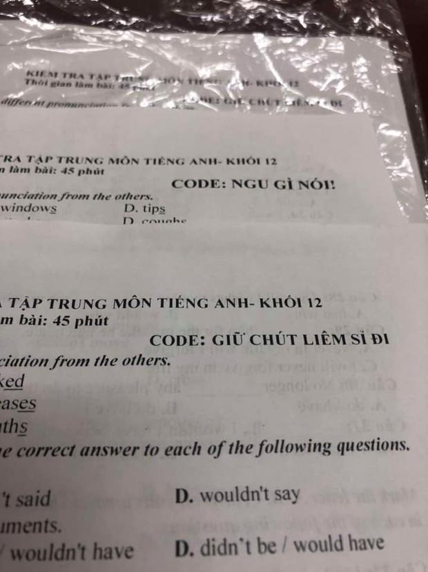 Cách đặt mã đề kiểm tra một tiết bá đạo của giáo viên dạy Tiếng Anh: Giữ chút liêm sỉ đi, hỏi han gì tầm này nữa! - Ảnh 1.