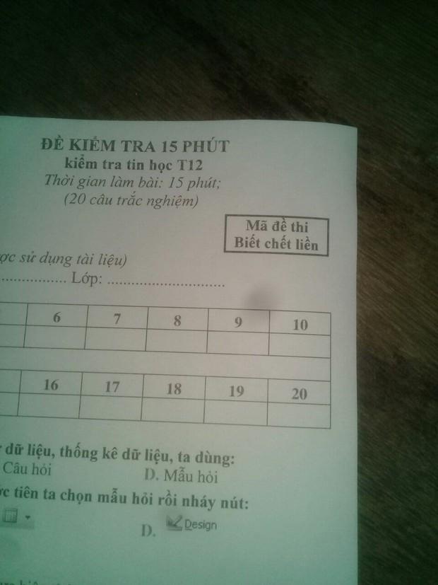 Cách đặt mã đề kiểm tra một tiết bá đạo của giáo viên dạy Tiếng Anh: Giữ chút liêm sỉ đi, hỏi han gì tầm này nữa! - Ảnh 2.