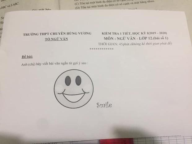 """Ngã ngửa trước đề Ngữ văn siêu tiết kiệm """"một mặt cười"""" của giáo viên, học sinh shock vì không biết bắt đầu từ đâu - Ảnh 1."""