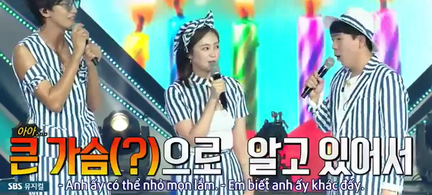 Hồn nhiên như Jeon So Min: Khen Kim Jong Kook... ngực to ngay tại fanmeeting của Running Man - Ảnh 4.