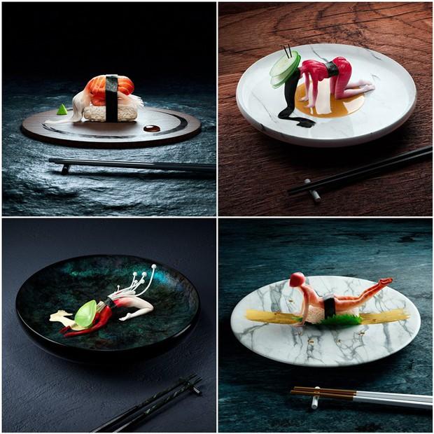 """Đang định ăn sushi thì thấy miếng thịt… uốn éo như tập yoga, nhìn """"chết khiếp"""" nhưng lại là một nghệ thuật ở Nhật - Ảnh 1."""