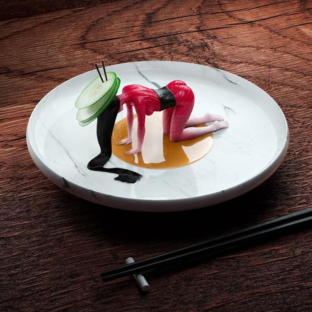 """Đang định ăn sushi thì thấy miếng thịt… uốn éo như tập yoga, nhìn """"chết khiếp"""" nhưng lại là một nghệ thuật ở Nhật - Ảnh 3."""