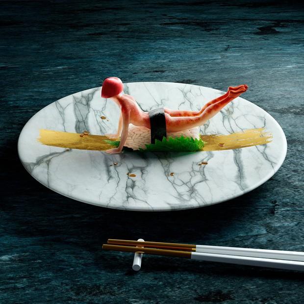 """Đang định ăn sushi thì thấy miếng thịt… uốn éo như tập yoga, nhìn """"chết khiếp"""" nhưng lại là một nghệ thuật ở Nhật - Ảnh 4."""