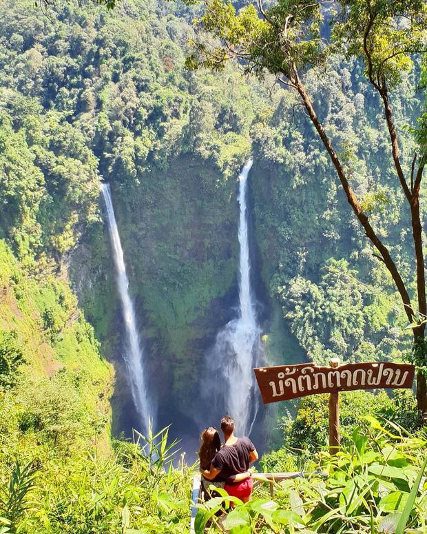 Muốn thử cảm giác mạnh ở Lào, đu đưa ngay trên võng và uống cafe giữa thác nước cao 140m này đi! - Ảnh 7.