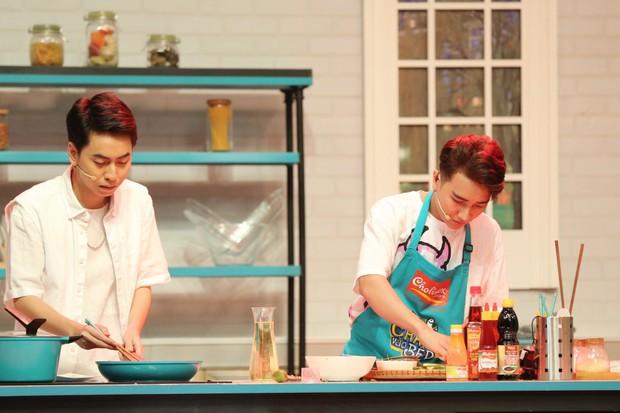 Đại Nghĩa đỡ lời khi Hari Won nhiệt tình ăn trên sóng truyền hình - Ảnh 3.