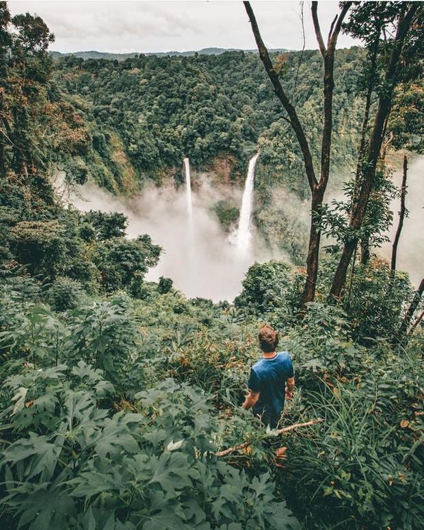 Muốn thử cảm giác mạnh ở Lào, đu đưa ngay trên võng và uống cafe giữa thác nước cao 140m này đi! - Ảnh 5.