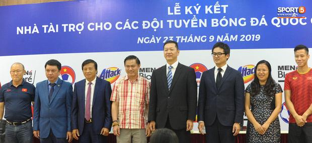 Quế Ngọc Hải, Hoàng Đức bảnh bao tại Lễ công bố nhà tài trợ đội tuyển bóng đá Quốc gia Việt Nam - Ảnh 4.