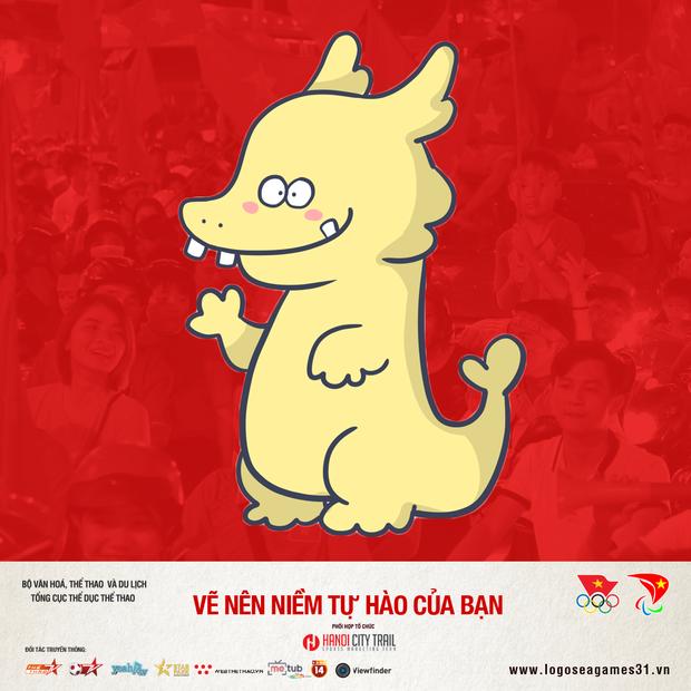 Chú rồng cách điệu PikaLong dự cuộc thi sáng tác linh vật cho SEA Games 31 - Ảnh 1.
