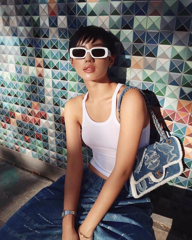 Túi hiệu đâu ra mà lắm thế: Hẳn nên gọi Khánh Linh là cô em nhiều túi' chứ không chỉ là cô em trendy - Ảnh 6.