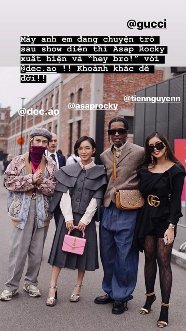 Xuất hiện quá chất tại show Gucci, Châu Bùi và Decao được rapper đình đám A$AP Rocky chủ động chào - Ảnh 3.