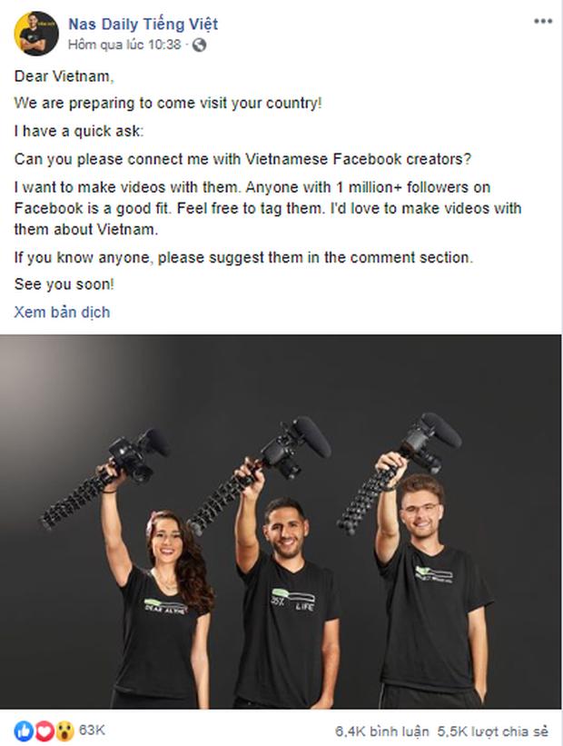 """Travel blogger nổi tiếng Nas Daily chỉ muốn hợp tác với người Việt """"hơn 1 triệu lượt theo dõi trên Facebook"""", Khoai Lang Thang đáp trả cực gắt - Ảnh 3."""