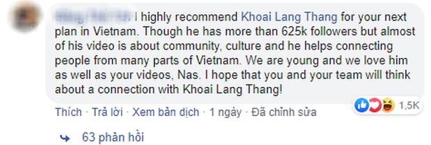 """Travel blogger nổi tiếng Nas Daily chỉ muốn hợp tác với người Việt """"hơn 1 triệu lượt theo dõi trên Facebook"""", Khoai Lang Thang đáp trả cực gắt - Ảnh 8."""