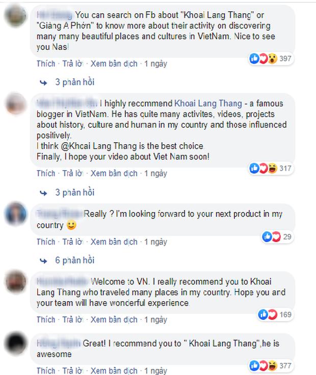 """Travel blogger nổi tiếng Nas Daily chỉ muốn hợp tác với người Việt """"hơn 1 triệu lượt theo dõi trên Facebook"""", Khoai Lang Thang đáp trả cực gắt - Ảnh 6."""
