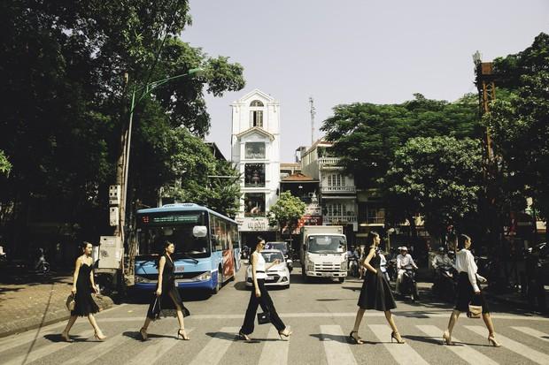 Bất ngờ khi những ngã tư đường Hà Nội được hô biến thành sàn catwalk - Ảnh 5.