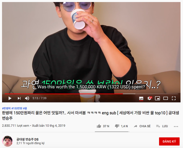 Không thể tin nổi: Youtube Hàn Quốc có trào lưu mukbang… nước lọc cực hot, bộ nước trắng có gì hấp dẫn vậy ta? - Ảnh 4.