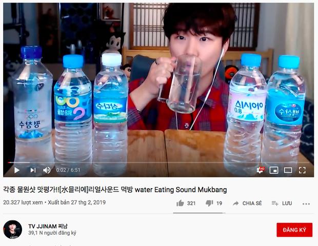 Không thể tin nổi: Youtube Hàn Quốc có trào lưu mukbang… nước lọc cực hot, bộ nước trắng có gì hấp dẫn vậy ta? - Ảnh 6.