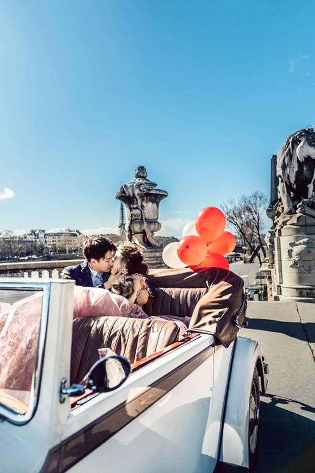 Nàng Rich kid Giang Lê tung bộ ảnh cưới xuất sắc tại Paris, chú rể hóa ra cũng là hot boy nổi tiếng không kém cạnh - Ảnh 1.