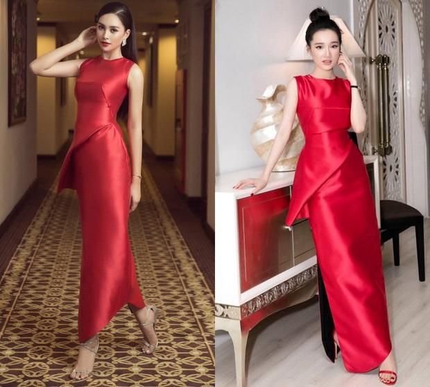 Tưởng đẹp bất phân thắng bại khi diện cùng một chiếc đầm đỏ, nhưng Tiểu Vy lại cao tay hơn Nhã Phương ở khoản chọn giày - Ảnh 7.