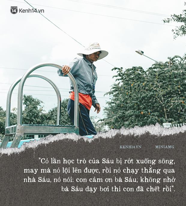 Bà Sáu Thia, người 17 năm dạy bơi miễn phí cho hàng ngàn trẻ em vùng sông nước - Ảnh 5.