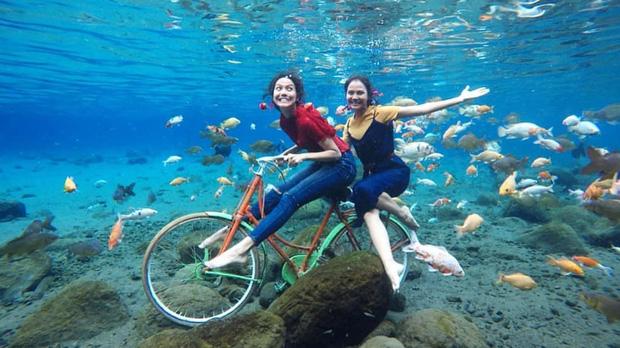 """Chuyện lạ có thật: Cái """"ao làng"""" nhưng chất lượng vươn lên hàng quốc tế, du khách đến Indonesia phải đua nhau tìm đến sống ảo - Ảnh 4."""