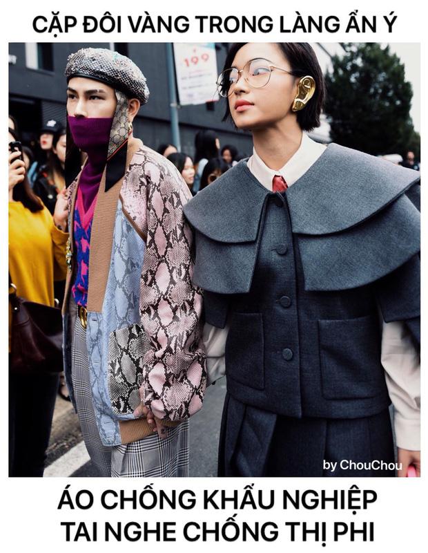 Phát hiện của netizen: set đồ cực chất của Châu Bùi & Decao ở show Gucci hoá ra là để chống thị phi, khẩu nghiệp - Ảnh 3.