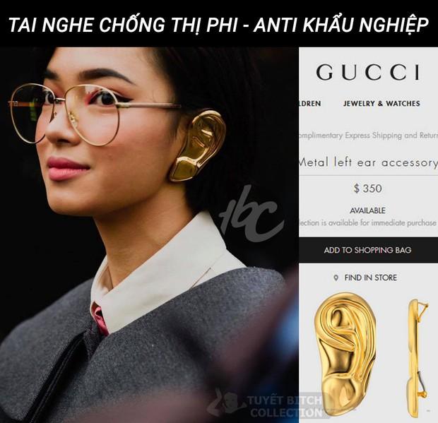 Phát hiện của netizen: set đồ cực chất của Châu Bùi & Decao ở show Gucci hoá ra là để chống thị phi, khẩu nghiệp - Ảnh 2.