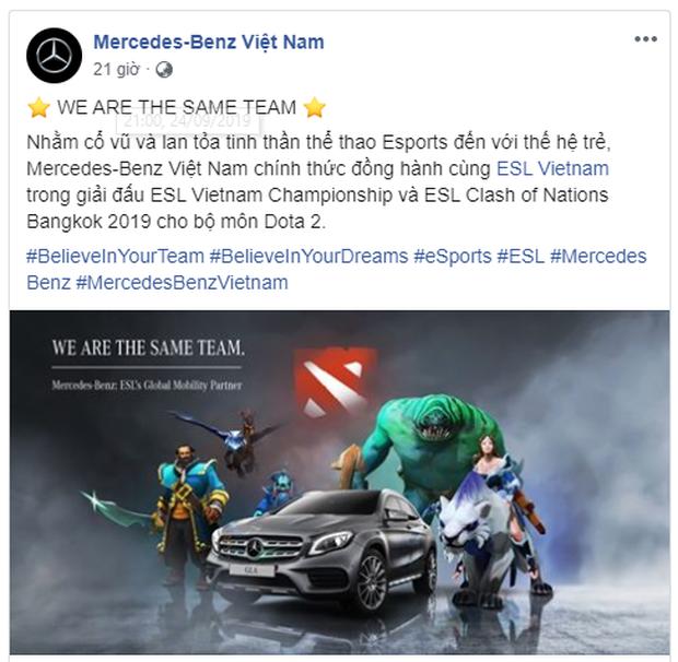 Mercedes-Benz tài trợ giải đấu DOTA 2 Việt Nam, các đội tham dự ngập mặt trong tiền thưởng - Ảnh 1.