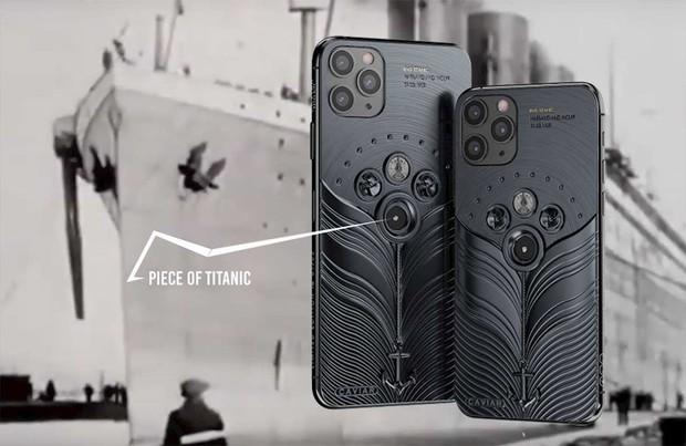Chế tác từ mảnh vỡ tàu Titanic và tàu vũ trụ Vostok-1, đây chắc chắn là bản iPhone 11 độc nhất thế giới - Ảnh 2.