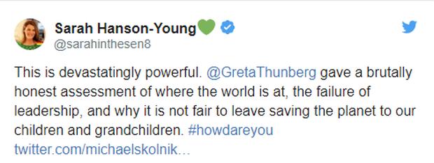 Tranh cãi bùng nổ vì chiến binh khí hậu Greta Thunberg: Người khen dũng cảm, kẻ chê xấc xược và chỉ biết nói suông - Ảnh 3.