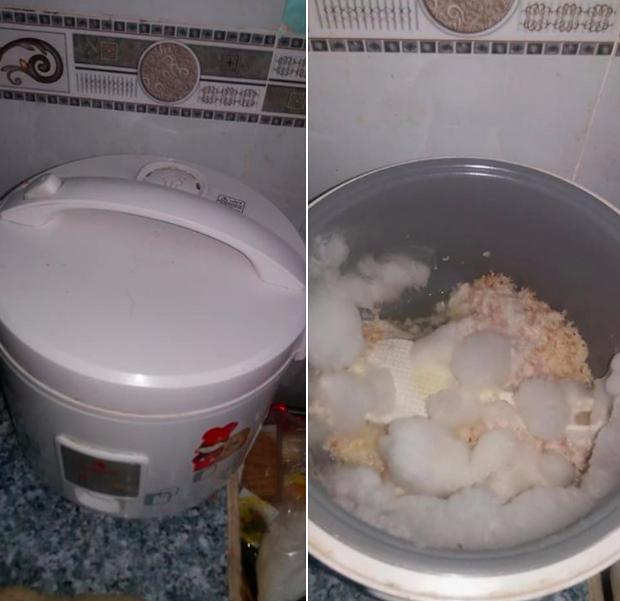 Thanh niên nấu cơm cho bạn gái ốm rồi quên rửa nổi để mốc xanh mốc đỏ: Tình yêu làm người ta mù quáng thật! - Ảnh 1.