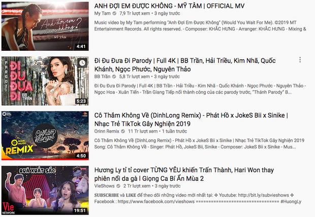 Bị chỉ trích thiếu chuyên nghiệp, nhưng ngay lúc này Hương Ly đang cùng lúc nắm giữ tận 3 vị trí cao trên Top Trending - Ảnh 1.