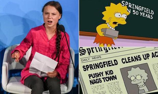 Giật mình nhận ra cái lườm của Greta Thunberg dành cho TT Donald Trump từng được xi nhan ở The Simpsons? - Ảnh 2.