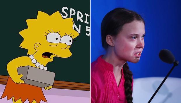 Giật mình nhận ra cái lườm của Greta Thunberg dành cho TT Donald Trump từng được xi nhan ở The Simpsons? - Ảnh 6.