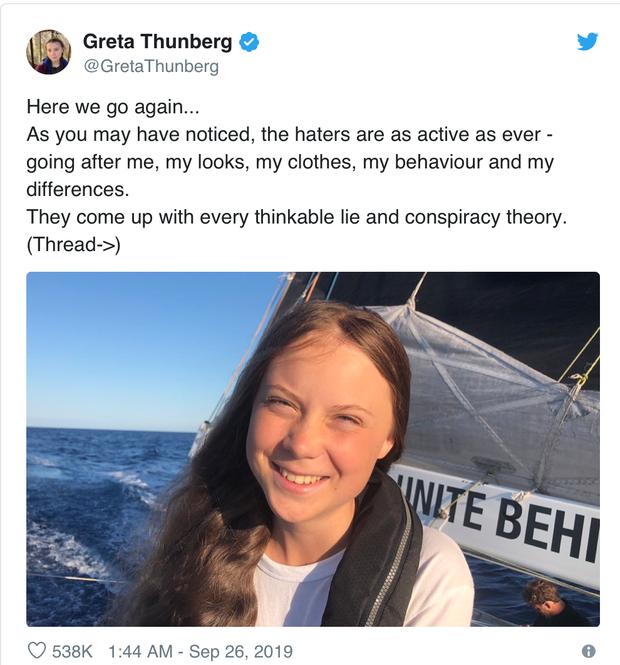 Hứng chịu chỉ trích của cộng đồng mạng, đây là những gì Greta Thunberg đã đáp trả và nó thật hoàn hảo - Ảnh 3.