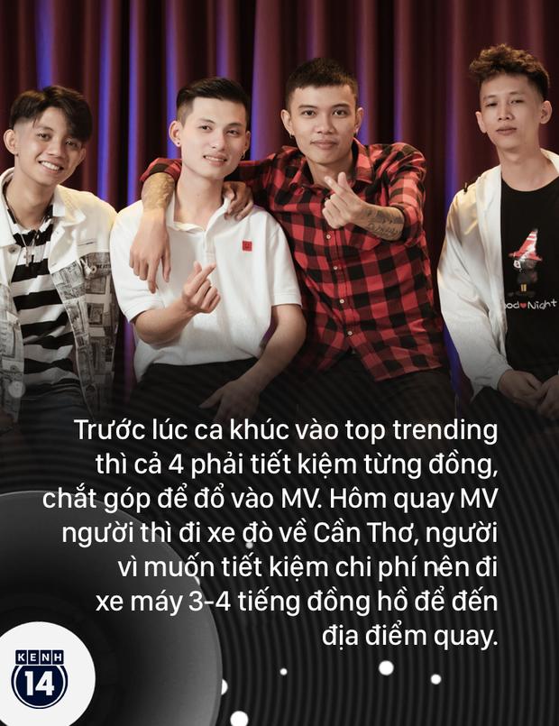 Nhóm nhạc Top 1 trending X2X của Cô Thắm Không Về: từng làm bảo vệ, dọn chợ đêm, khẳng định không bắt chước Jack và K-ICM - Ảnh 5.