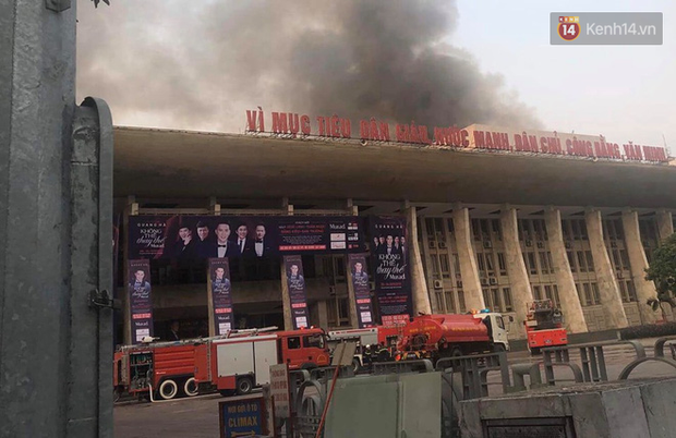 Hà Nội: Cháy dữ dội tại Cung văn hoá hữu nghị Việt Xô trước liveshow ca nhạc lớn - Ảnh 2.