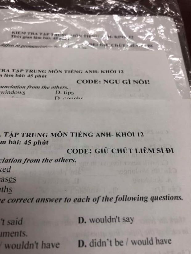 """Đặt mã đề toàn hỏi chấm với chấm than, giáo viên khiến học sinh """"khóc thét"""" không biết tìm đồng bọn cùng đề kiểu gì - Ảnh 2."""