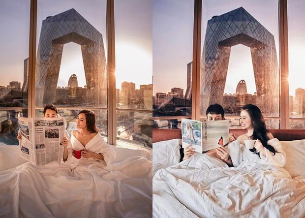 Style ảnh du lịch của nhà Minh Nhựa đối nhau chan chát: Con gái và con rể giản dị bao nhiêu thì bố và vợ hai lại màu mè bấy nhiêu - Ảnh 8.