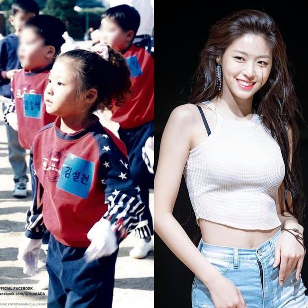 Dàn mỹ nhân Hàn lộ nhan sắc thật qua ảnh thuở bé: Tzuyu và Sulli quá xuất sắc, Seolhyun và gà YG lột xác ngỡ ngàng - Ảnh 1.
